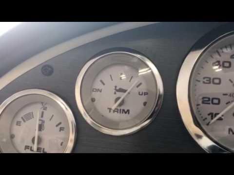 Boat trim gauge adjustments are