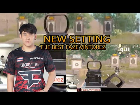 FAZE VINTOREZ KING HEADSHOT NEW SETTING PUBG MOBILE