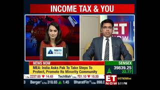 Tax Benefits on purchase of Property - ET Now Live with Karan Batra
