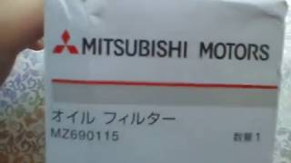 Оригинальный масляный фильтр Mitsubishi MZ690115