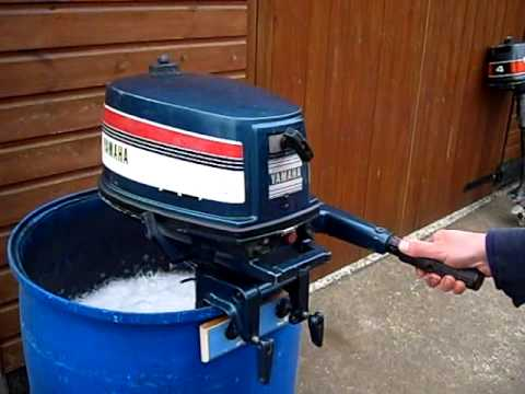 Yamaha 4hp long shaft outboard motor running demo youtube for Yamaha outboard parts house