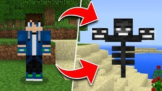 How to Turn Into ANY MOB in Minecraft Tutorial! (Pocket Edition, Xbox, PC)