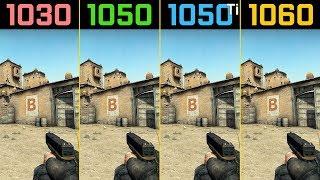 CS:GO GT 1030 vs. GTX 1050 vs. GTX 1050 Ti vs. GTX 1060