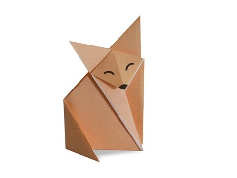 short video on how to make a fox origami