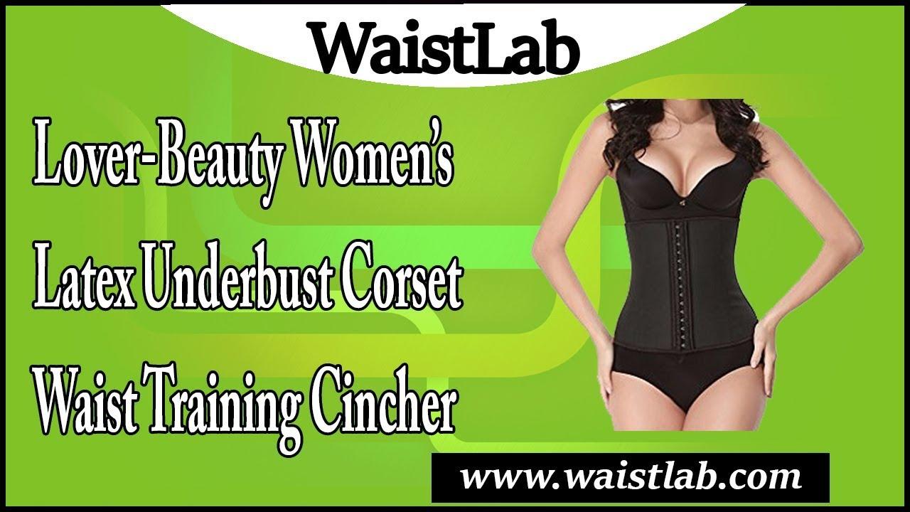 025015d349b Lover-Beauty Women s Latex Underbust Corset Waist Training Cincher 9 ...