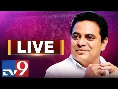 KTR LIVE - Congress Leaders join TRS || Telangana Bhavan - TV9