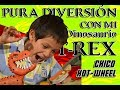 Download MEJOR VIDEO CHICO JUGANDO CON T REX DINOSAURIO HOT WHEELS