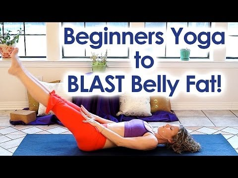 beginners yoga for weight loss  blast belly fat core