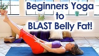 Beginners Yoga for Weight Loss | Blast Belly Fat! Core Strength Yoga & Back Pain Relief Class