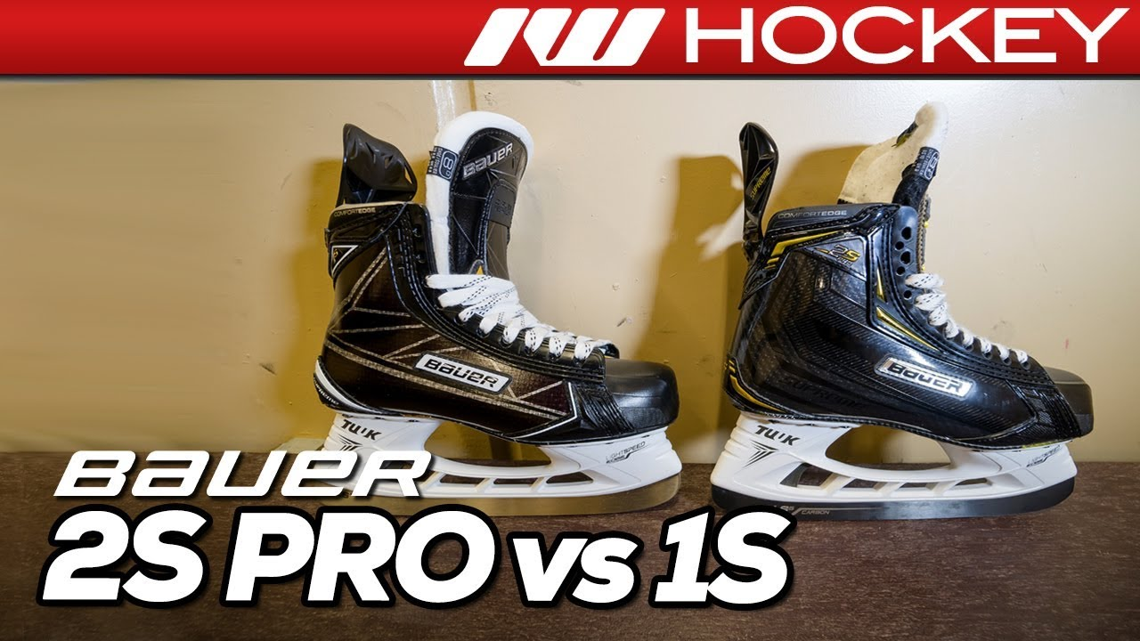 Bauer Supreme 2S Pro Vs  1S Skates // Tech & Spec Comparison - YouTube