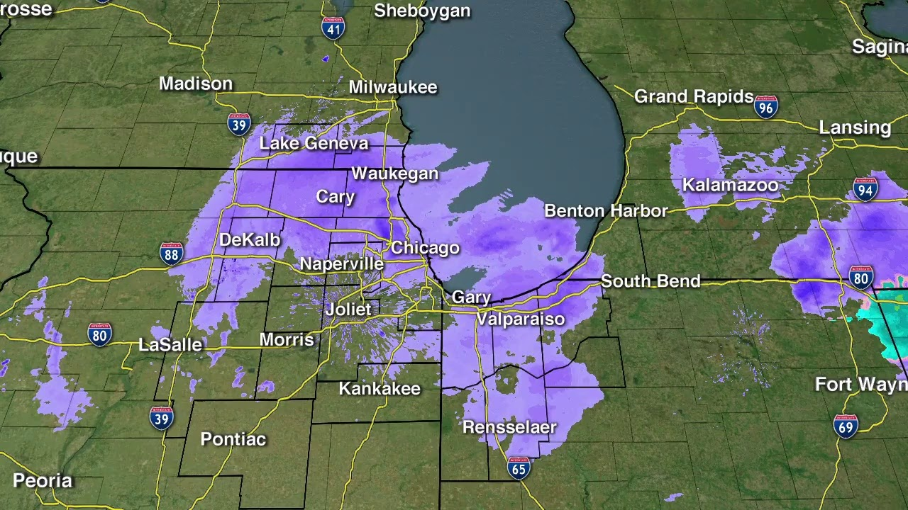 Chicago weather: Snow forecast for area with up to 8 inches of ...