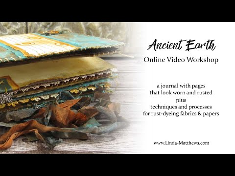 Rust Dyed Ancient Earth Journal Online Class Promo