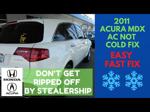 Acura MDX Air Conditioner AC Not Blowing Cold – How To Fix It For Cheap!