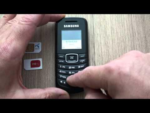 Samsung E1080W dekodiranje pomoću koda