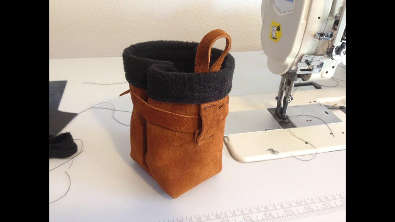 Sewing a Suede Chalk Bag w/ Two Way Trauma - YouTube