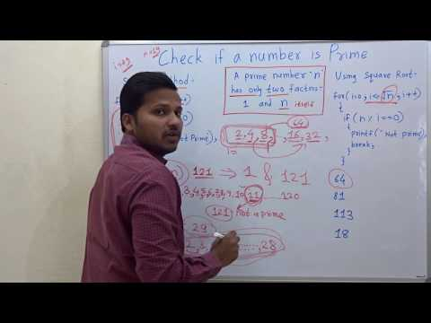 Check if a number is prime (Algorithm/code/program)