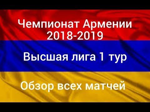 Чемпионат Армении. Высшая лига.1 тур. Обзор всех матчей.