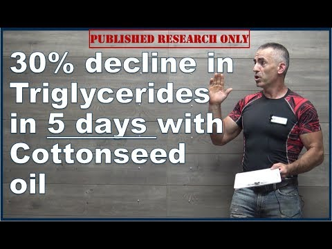 ❔ Cottonseed oil linked with rapid drops in triglycerides and cholesterol