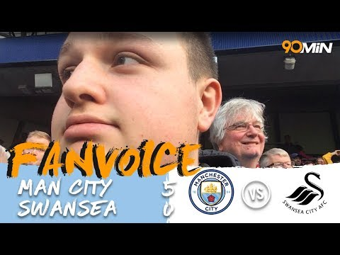 Man City trashes Swansea after winning the Premier League! | Man City 5-0 Swansea | 90min Fanvoice