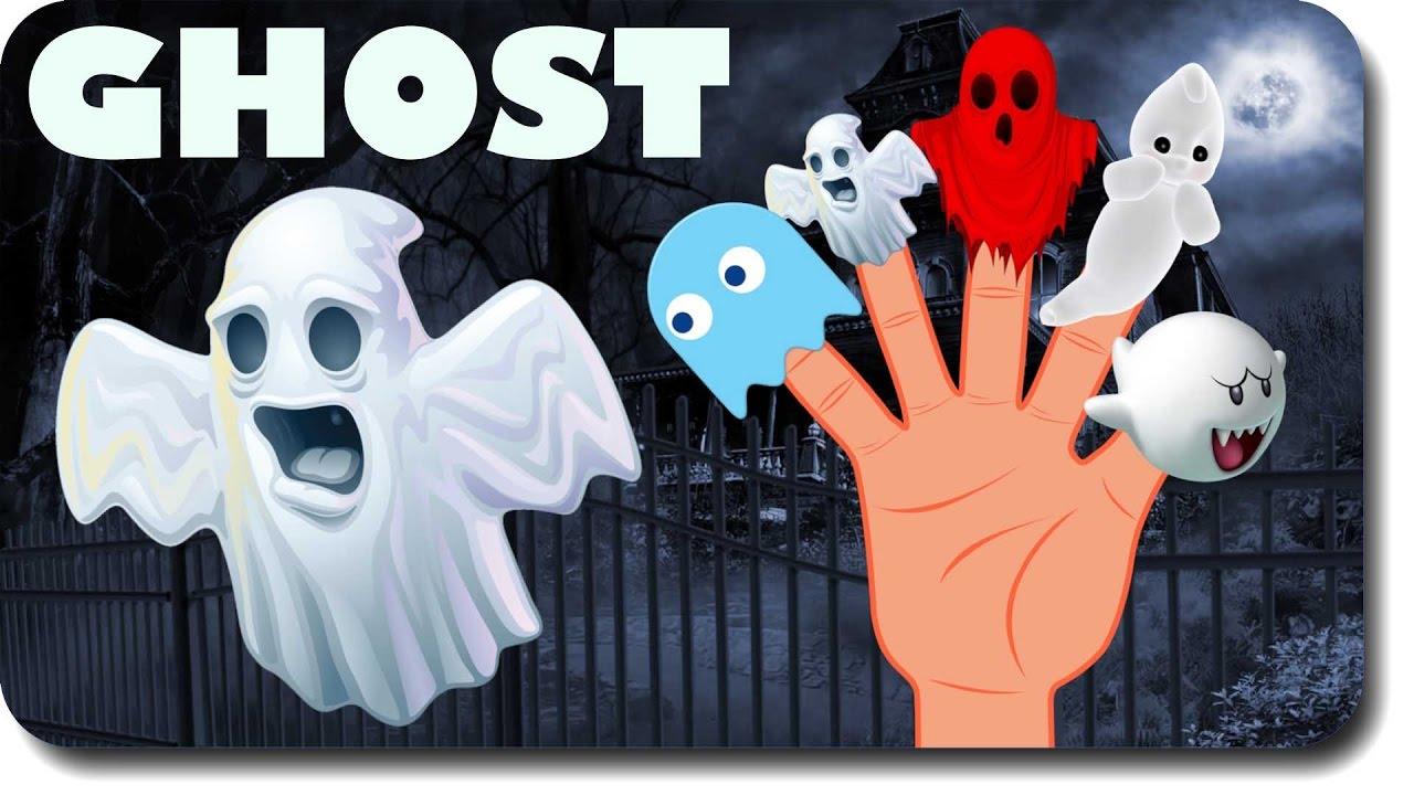 Funny Ghost Halloween Monster Finger Family Nursery Rhymes For Childrens Kids Song
