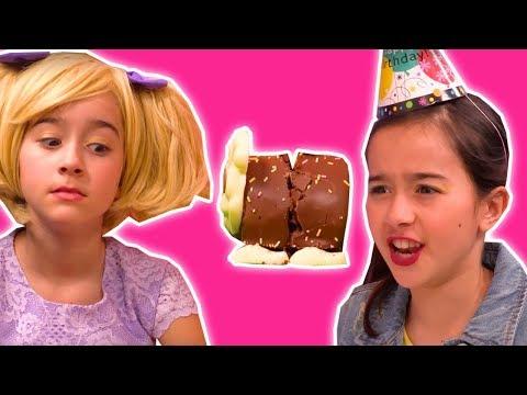 CHOCOLATE CATERPILLAR CAKE DISASTER 🎂 Lilliana Pranks Olivia - Princesses In Real Life | Kiddyzuzaa