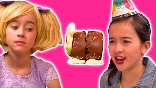 CHOCOLATE CATERPILLAR CAKE DISASTER 🎂 Lilliana Pranks Olivia - Princesses In Real Life | Kiddyzuzaa