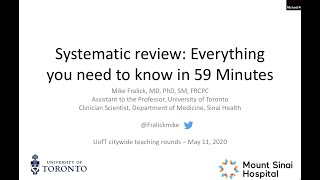 An Introduction to Systematic Review and Meta-analysis: Everything you need to know in 59 minutes