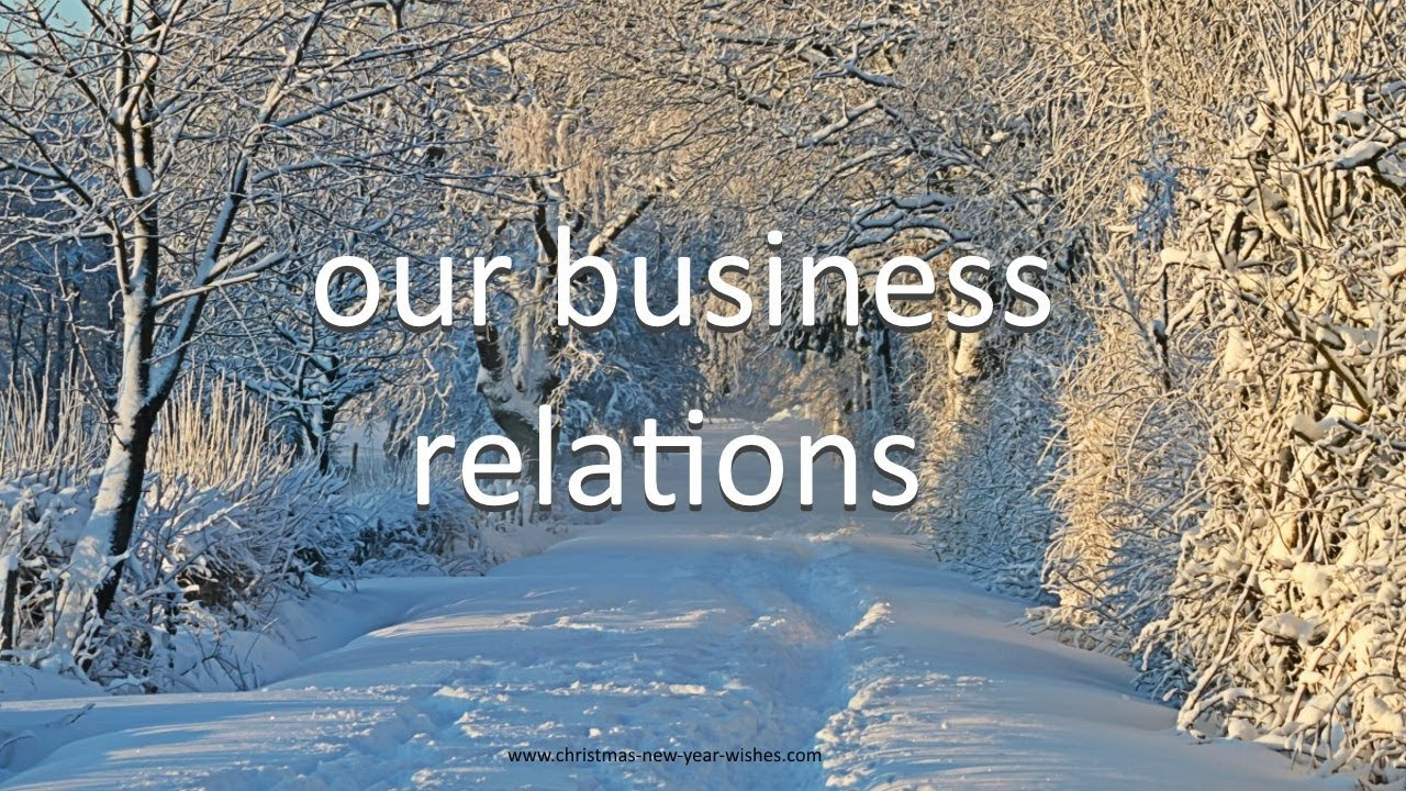 christmas wishes to business partner