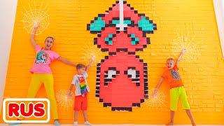 Влад и Никита   Цветная машина для мамы