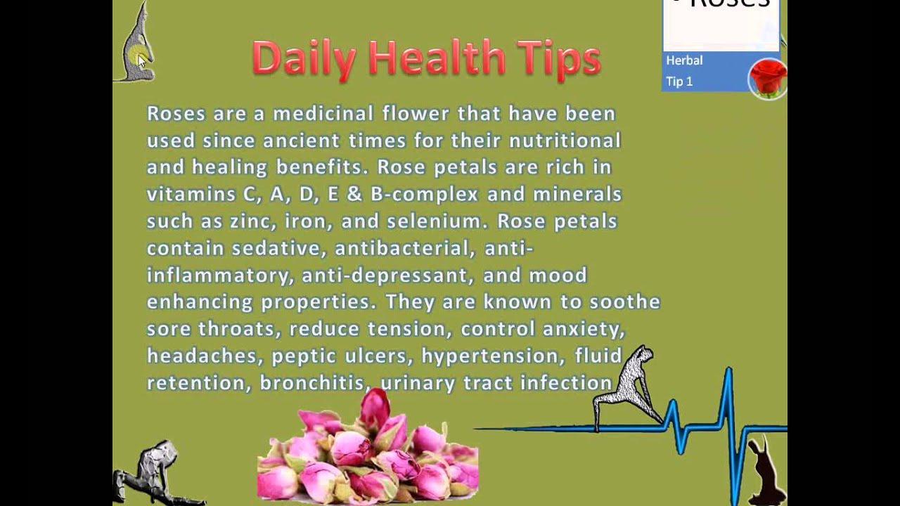 My Daily Health Tips 2015 Jan 25