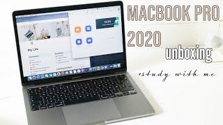 MacBook Pro 2020 unboxing | study with me | studyandorganize