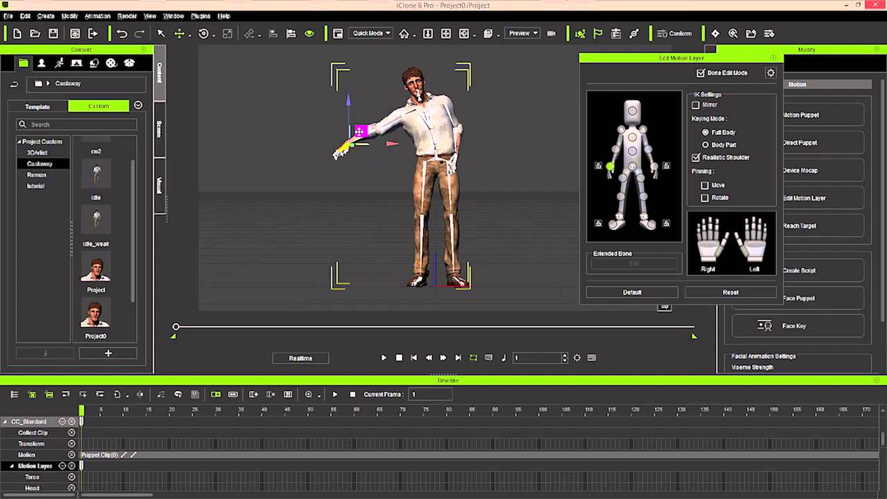 iClone Animation to Unity3D Part Three: Motion Puppet and Layer Editing