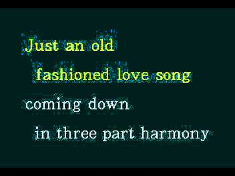 DK051 15   Three Dog Night   Old Fashioned Love Song [karaoke]