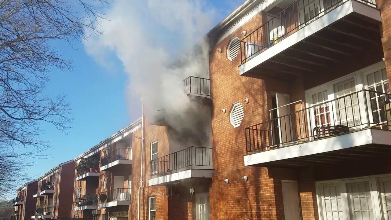 Fire at Queen Anne Apartments in Lexington Park 1