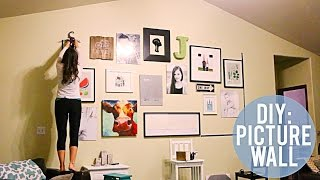 Diy: Wall Decoration Ideas: How To Dress Up A Large Wall!