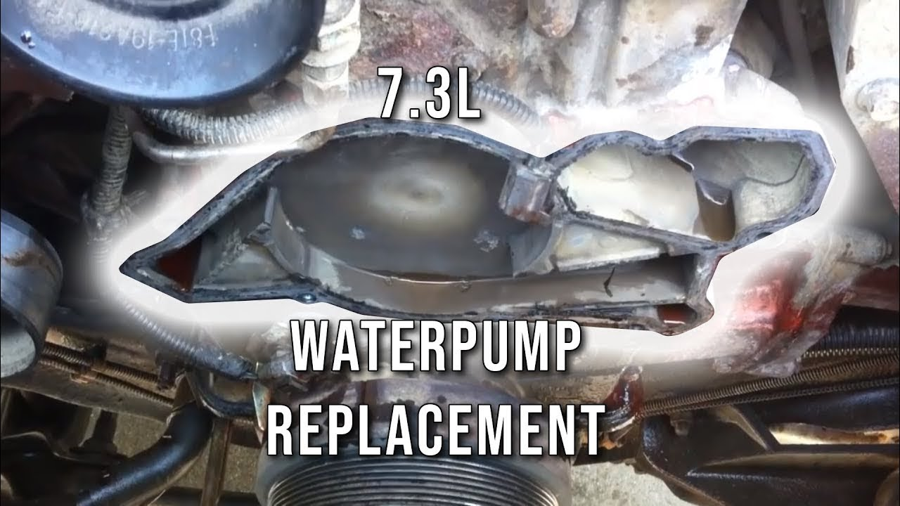 73l Psd How To Replace Water Pump Youtube 7 3 Powerstroke Fuel Filter Location