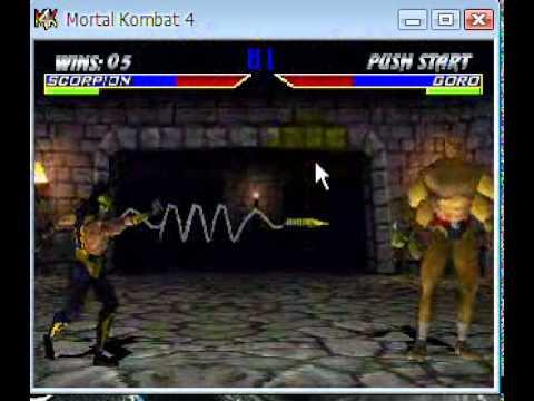 Mortal Kombat 4 Scorpion Gameplay Part 2/2