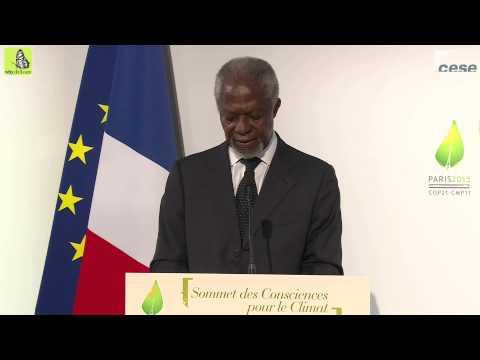 """Allocution de M. Kofi Annan, Président de """"The Elders"""", ancien Secrétaire Général des Nations Unies"""
