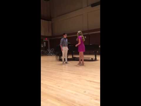 "Jack Dwyer and Madeline Powell singing ""Suddenly Seymour"""