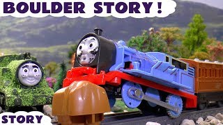 thomas and friends funny accident prank play doh diggin rigs toys rescue kids toy unboxing