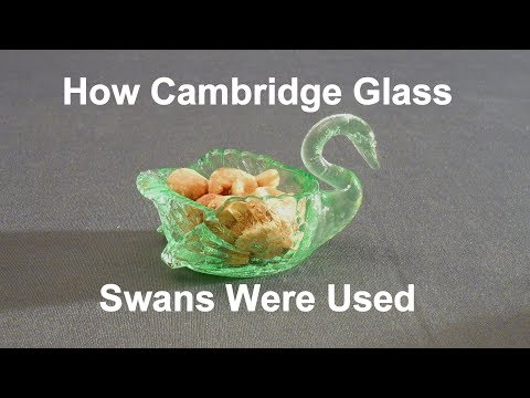 How Cambridge Glass Swans Were Used