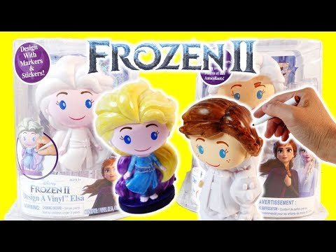 Disney Frozen 2 Elsa and Anna Design a Vinyl DIY Speedpaint