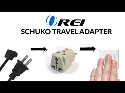 OREI Grounded Universal 2 In 1 Europe Schuko Plug Adapter Type E/F For Germany, France