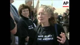 WRAP Blix, ElBaradei arrive in Baghdad, more peace demo, IAEA reax
