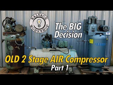 OLD 2 Stage Air Compressor ~ FREE Compressor Decision Time! ~ RESTORATION Part 1
