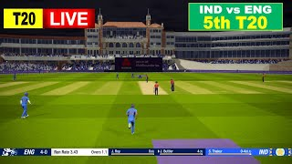 🔴ENG vs IND LIVE CRICKET 5th T20 || LIVE SCORE & COMMENTARY | ENGLAND vs INDIA LIVE CRICKET