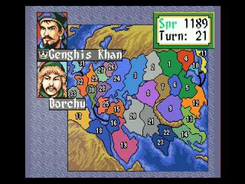 Mega Drive Longplay [156] Genghis Khan II - Clan of the Gray Wolf