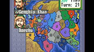 Mega Drive Longplay [156] Genghis Khan II - Clan of the Gray Wolf
