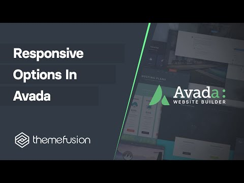 Responsive Options in Avada Video