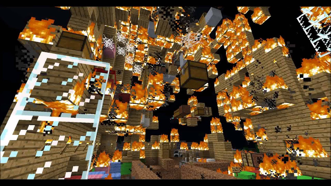 Minecraft Burning Down The House Youtube